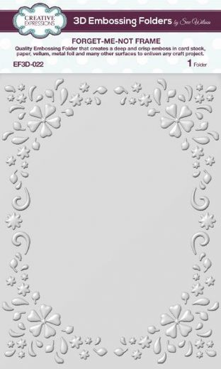 CE Embossing Folder 3D 5 3/4 x 7 1/2 Forget-me-not Frame